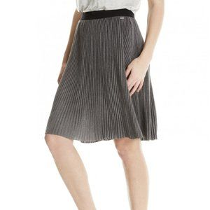 BENCH Gray Pleated Jersey Skirt S Casual NEW